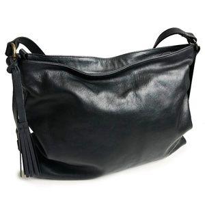 Eileen Fisher Black Leather Hobo Bag